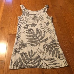 A New Day Target Floral Leaf Tank Top